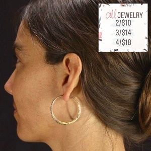 "2/$10 ""Jane"" Dainty Minimalist Gold Hoop Earrings"